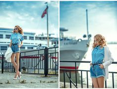 One day in the port BY TINI T., GIRL FROM TATARSTAN, RUSSIAN FEDERATION. Oasap Top, Stradivarius Jacket, Zara Heels