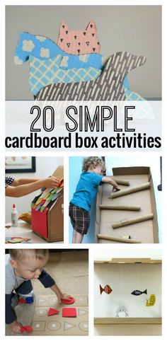 20 Simple Cardboard Box activities for kids! Love #3