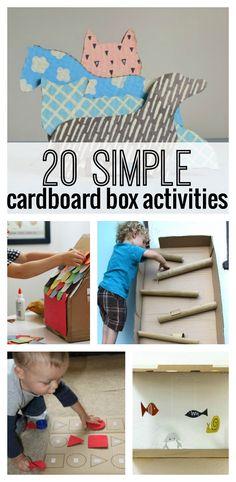 20 Simple Cardboard Box activities for kids! Love #3