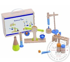 wooden science lab