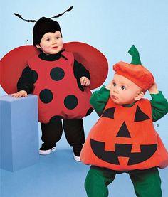 sew make simplicity 2090 sewing pattern baby costumes pumpkin ladybug 6m 4 - Baby Halloween Costume Patterns