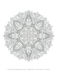 Mandalas 2 Coloring Pages Set of 10 by emerlyearts on Etsy, $20.00