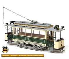 "Occre Berlin Tram 1:24 Scale Wood & Metal Model Kit - available from Hobbies, the UK's favourite online hobby store! This vehicle was the oldest of the Berlin electric motor car trams, originally . It was no. 40 and operated in the West Berlin suburbs: ""Westliche Berliner Vorortbahn"". It is the type of motor car trams called the ""Neu-Berolina"", the use of which used to be widespread."