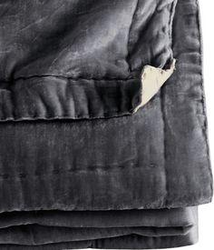 Grey bedspread - H