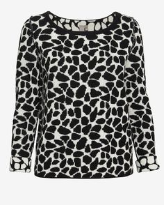 Shae EXCLUSIVE Giraffe Pattern Knit Sweater