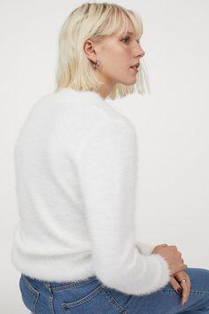 Flauschiger Pullover - Weiß - Ladies | H&M DE 3
