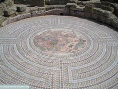 Mosaik im archäologischen Park von Páphos, Zypern