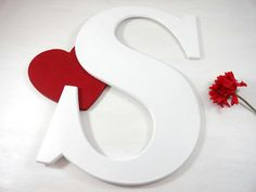 Wedding Signature Letters Wood Letters Large Painted Photo  $39.99 Happy Easter Sale  20% Enter Code APR2017  Click on photo to BUY NOW!  Handmade with care, your custom letter will be perfect for your special occasion. #allwoodtoo makes quality letters for you to use as part of your home decor, wedding decor, photo props, and gifts.  Click here: allwoodtoo.etsy.com to see more!