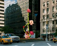 Giant flower installation in NYC