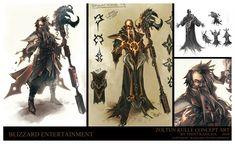 ArtStation - Diablo 3 Zoltun Kule Character design, Trent Kaniuga - Aquatic Moon