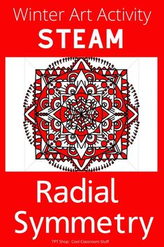Fun sub lesson for kids; and centers. Students create radial symmetry on a circlular template. Winter symbols are given as inspiration. Art Sub Plans, Art Lesson Plans, Middle School Art Projects, Art School, High School, Art Activities, Steam Activities, Steam Art, Symmetry Art