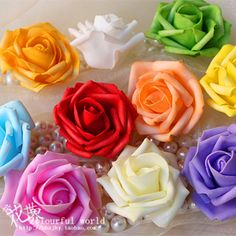Hot Sale Artificial Foam Roses For Home And Wedding Decoration Flower Heads Kissing Balls For Weddings Multi Color 7 Cm Diameter US $24.20