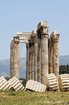 Columns Of The Temple Of Zeus