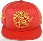 For Sale - Toronto Raptors Custom New Era NBA Red & Gold Leather 950 Strapback Hat - See More At http://sprtz.us/RaptorsEBay