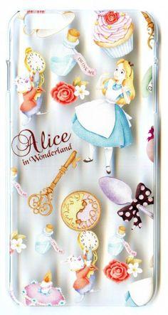 4f02aaf8ce4 Transparent Case for iPhone 6 Plus Disney Alice in the Wonderland Clock  Rabbit