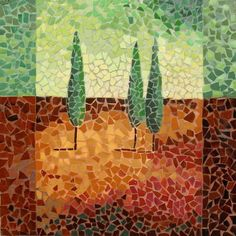 Sell Painting - handmade cermic mosaic for decoration - Landscape 011 Mosaic Tile Art, Mosaic Glass, Glass Art, Stained Glass, Mosaic Designs, Mosaic Patterns, Selling Paintings, Mosaic Madness, Mosaic Projects