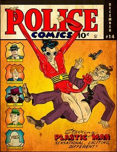 Kenny Keil covers Gill Fox's Jack Cole's Police Comics/Plastic Man