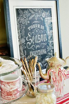 Hot cocoa bar from @At The Picket Fence
