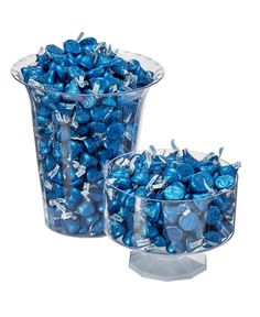 Kisses Candy, Hershey Kisses, Blue Chocolate, Hershey Chocolate, Sweet 16 Decorations, Hanukkah Decorations, Diamond Party, Denim And Diamonds, Quinceanera Themes