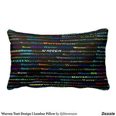 Warren Text Design I Lumbar Pillow