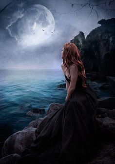 moon in dark fantasy Foto Fantasy, Fantasy Magic, Fantasy Kunst, Gothic Fantasy Art, Beautiful Fantasy Art, Beautiful Moon, Fantasy World, Fantasy Photography, Dark Gothic