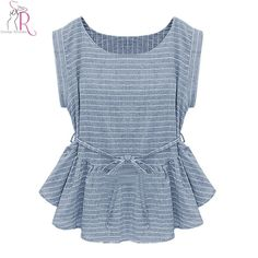 Cheap blouse ladies, Buy Quality blouse button directly from China blouse sweater Suppliers:     COLOR:Blue DETAIL:Peplum MATERIAL:Polyester NECKLINE:Round neck PATTERN TYPE:Stripes SILHOUETTE:Blouse  Polyester No