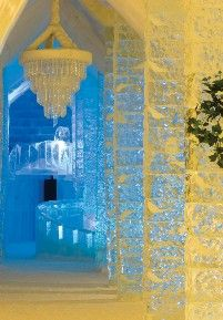 "Hôtel de Glace, Quebec, Canada - Ice hotel... Need I say that this is a ""cool"" hotel?? ;)"