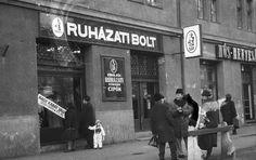 """1970-es évek """"turija"""" (Bizományi Állami Vállalat BÁV ruházati boltja)"""