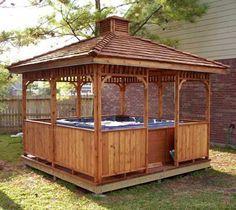 Hot Tub Enclosure Ideas | gazebos | suitable for a hot tub enclosure