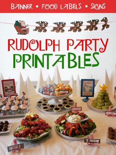 Rudolph Party Printables Last Christmas I put together a fun Rudolph the Red Nose Reindeer Holiday Party on Christmas day. It is my absolute favorite Christmas movie, so it was fun for me to design all the different print… Christmas Movie Night, Christmas Party Themes, Christmas Printables, Family Christmas, Christmas Traditions, Party Printables, Birthday Party Decorations, Holiday Parties, Christmas Ideas