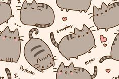 If only this was a fabric... Pusheen the Cat Print