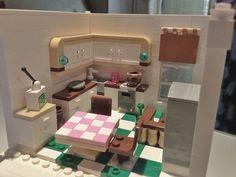 Lego kitchen - great wall cupboard treatment.