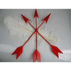 Arrow Wall Art Red Home Decor Tribal Trendy Southwest Western Decor... ($20) ❤ liked on Polyvore featuring home, home decor, wall art, black, home & living, home décor, black wall art, red home accessories, vertical wall art and red home accents