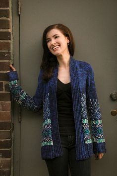 Snuggle up on a cold winter night with the Northern Lights Cardigan. This stylish knit sweater pattern will be an enjoyable knit that will make layering in the winter a breeze. The color work detail on the bottom of the sweater gives the cardigan a visually interesting element that will make it stand out from a crowd. A simple construction and timeless design will make this knitted cardigan is sure to become one of your favorite winter pieces.