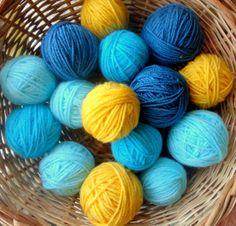 Yarn Balls Colorful