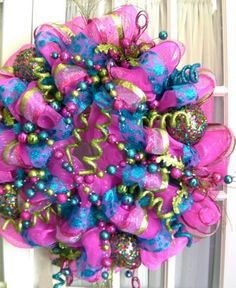 ... make your own deco mesh wreaths