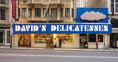 david's deli and bistro san francisco [I don't remember it having such an obnoxious sign when I was young in the 60's. We would go to the Curran Theater on Sunday afternoons and then cross the street to have a late lunch at David's Deli. They had WONDERful Reuben sandwiches!]