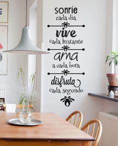 25 ideas para dar vida a tus paredes - Frases motivadoras para dar vida a tus paredes 25 ideas para dar vida a tus paredes - Home Design, Interior Design, Boho Home, Room Decor, Wall Decor, Girls Bedroom, Wall Stickers, Ideas Para, Sweet Home