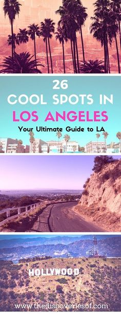 Los Angeles, LA, the City of Angels. Here's our pick of the coolest travel spots in LA that are too awesome to miss. From the best beaches, to food and nightlife, heres how to take on California in style. Read more #la #usa #travel