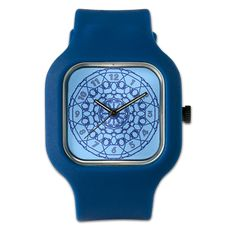 Lines Clock In Blue Watch