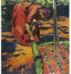 """Cuno Amiet...""""Woman in Garden"""" 1911..."""