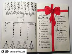 Bullet journal Christmas layout, Holiday budget tracker, Holiday task list, H. Bullet Journal Gifts, Bullet Journal Christmas, December Bullet Journal, Bullet Journal Notebook, Bullet Journal Spread, Bullet Journal Layout, Bullet Journal Inspiration, Bullet Journals, Christmas Planning