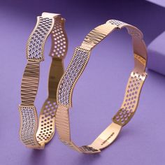 Plain Gold Bangles, Gold Bangles For Women, Solid Gold Bangle, Silver Bangles, Gold Ring Designs, Gold Bangles Design, Gold Earrings Designs, Jewelry Design, Fancy Jewellery