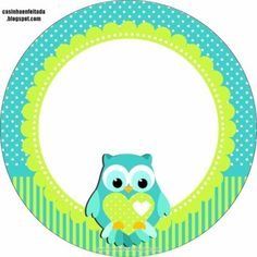 Print Corujinha Party Kit For Free Baby Mini Album, Owl Clip Art, Owl Pictures, Diy Baby Gifts, Class Decoration, Bottle Cap Images, Frame Clipart, Borders And Frames, Party Kit
