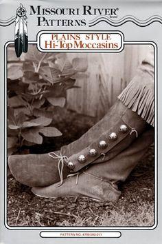 Patterns Leather patterns Moccasin patterns buckskin Plainsman Boots patterns moccasins