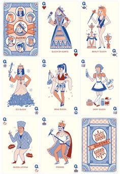 Queens Playing Cards - Jessica HJ. Lee
