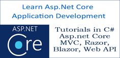 asp.net core tutorial C# Web Development Tutorial, Application Development, Web Application, Container Technology, Entity Framework, C Tutorials, Web Api, Sql Server