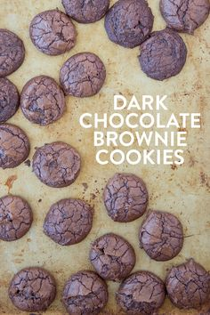 Dark Chocolate Brownie Cookies - super decadant fudgy cookies that are tender and chewy like a brownie!
