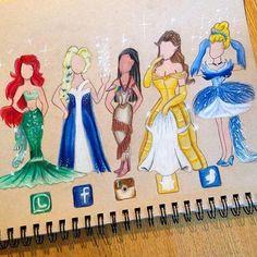Disney Princesses as apps