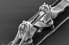 researchers from the Vienna University of Technology have speeded that up - considerably - and produced grain-of-sand sized objects such as bridges, cathedrals and Formula 1 cars.